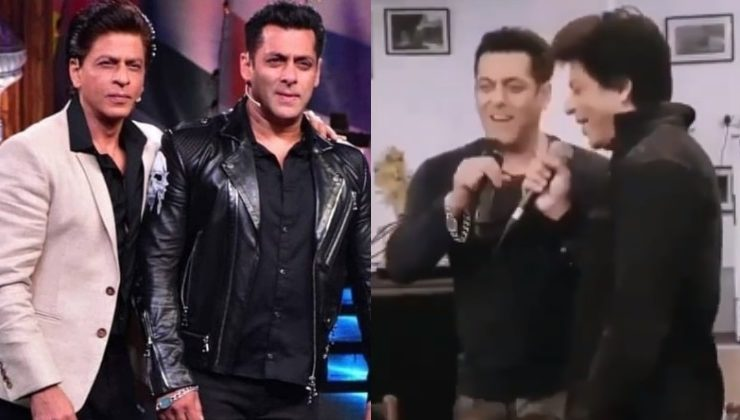 This throwback video of SRK and Salman singing is a rare gem