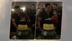 Watch: Birthday boy Salman cuts cake with nephew Ahil in his arms as Iulia Vantur cheers