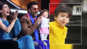 See Pic: Ranveer Singh is having fun with Taimur Ali Khan's doll on a reality show