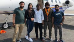 Post the success of their film, 'KGF' lead actors Yash and Srinidhi visit Tirupathi temple