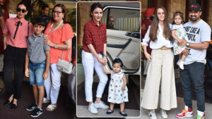 In Pics: Karisma, Soha, Rannvijay arrive at Taimur's pre-birthday bash