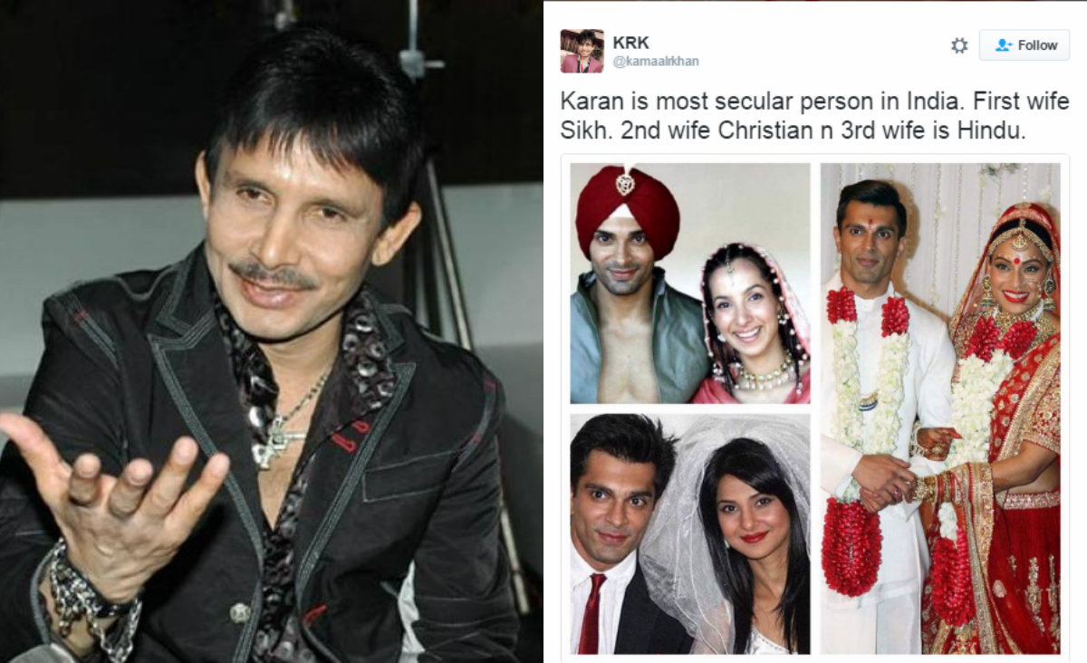 Comment on Karan Singh's marriages