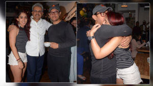 Aamir Khan hug daughter Ira spotted mia cucina