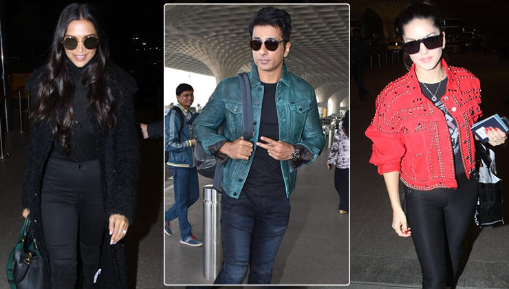 In pics: Deepika, Sunny Leone and Sonu Sood's airport style is on point