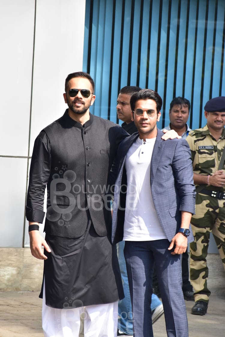 Rajkummar Rao and Rohit Shetty