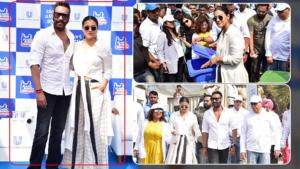 In Pics: Kajol and Ajay Devgn attend 'Plastic Banega Fantastic' event