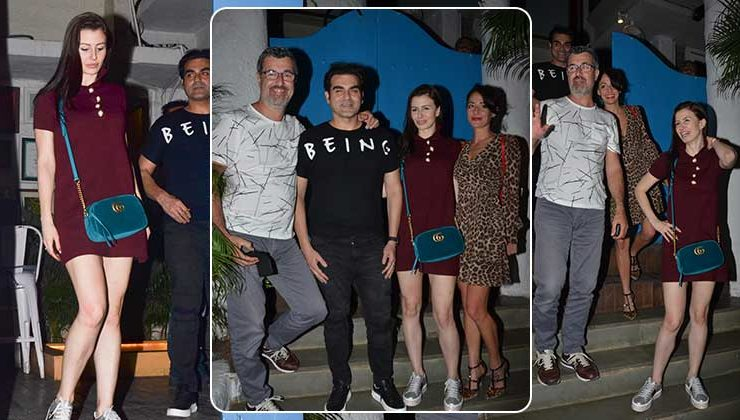 In Pics: Arbaaz Khan goes out for dinner with alleged girlfriend Georgia Andriani and her family