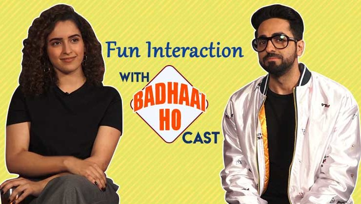 Fun interaction with Sanya Malhotra and Ayushmann Khurrana for film 'Badhaai Ho'