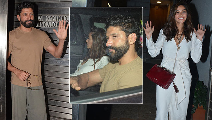 In Pics: Shibani Dandekar spotted while arriving for Farhan's birthday bash