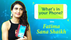 Fatima Sana Shaikh plays the fun game of 'What's In Your Phone'