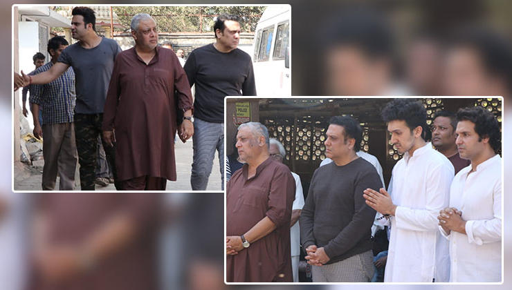 In Pics: Govinda and others arrive at his nephew Janmendra Ahuja's funeral