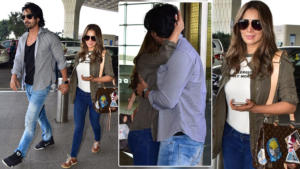 In Pics: Harshvardhan Rane bids adieu to Kim Sharma with hugs and kisses