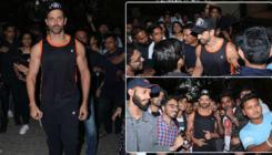 In Pics: Birthday boy Hrithik Roshan greets fans outside his house