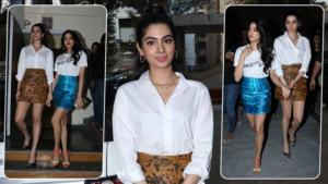 In Pics: Khushi and Janhvi Kapoor slayed the mini skirt style game with elan!