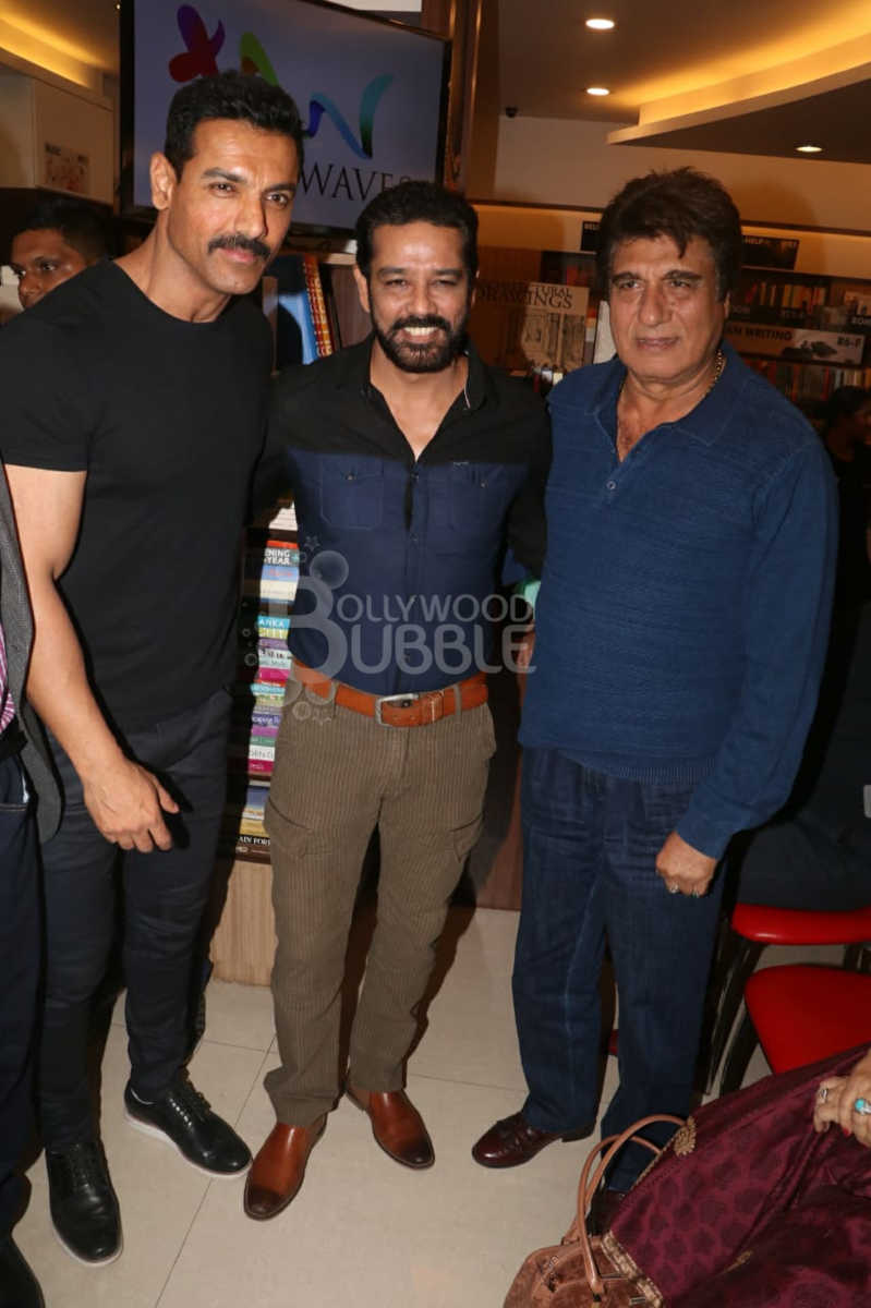 John Abraham with Annup Sonii and Raj Babbar