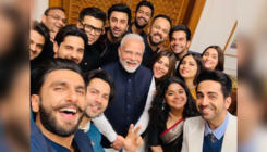PM Narendra Modi strikes a pose with Bollywood celebs for an epic selfie