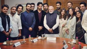 pics videos bollywood young delegation pm modi