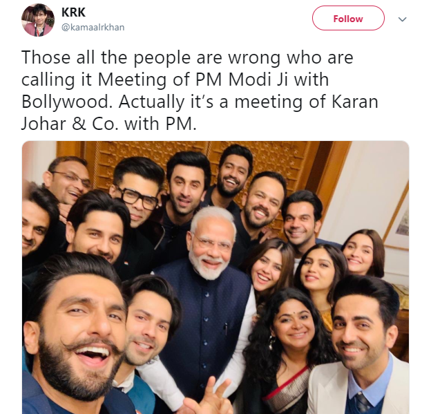 Jibe at PM Modi and Karan Johar