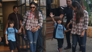 Pics: AbRam flaunts his mismatched shoes as he steps out with mom Gauri Khan
