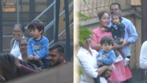 Pics: Taimur Ali Khan and cousin Inaaya Naumi Kemmu's play date is all things fun