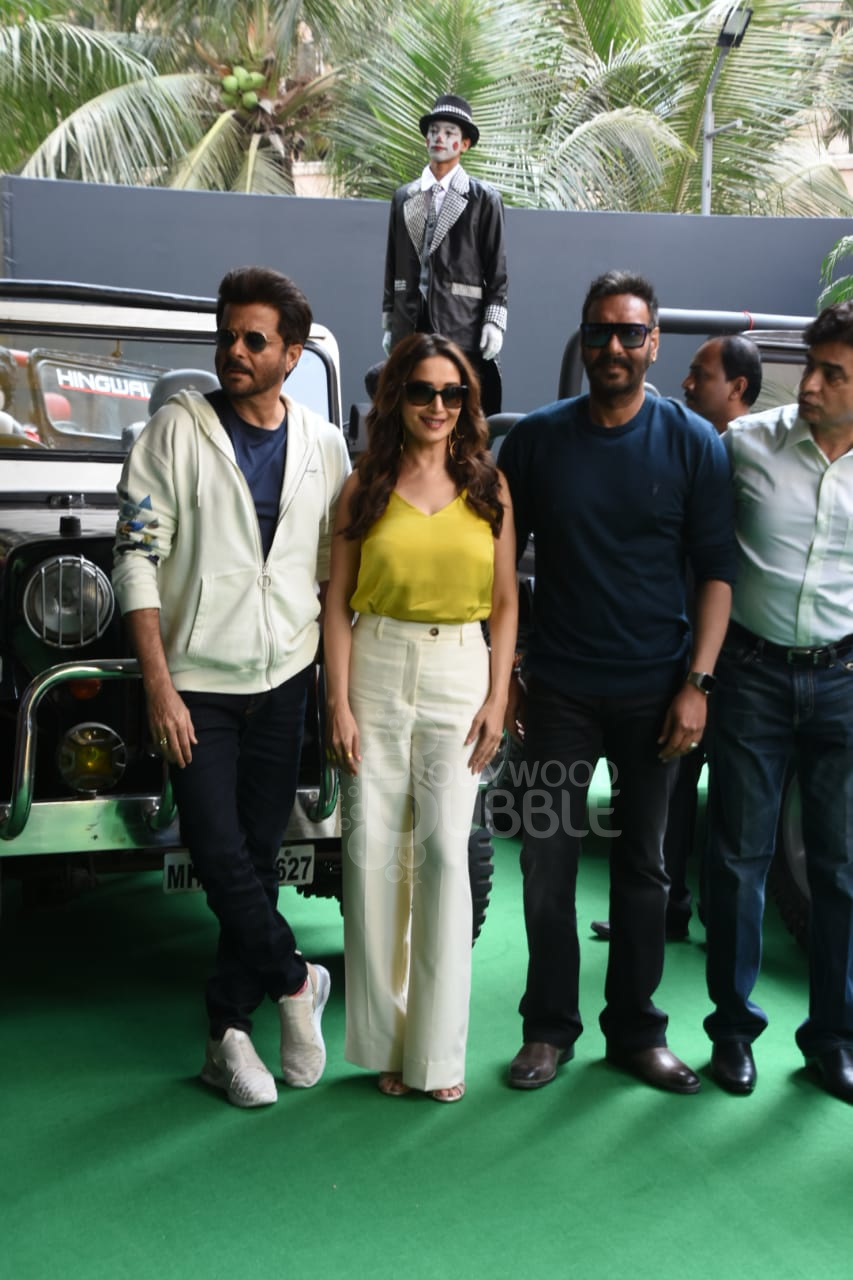 Anil, Madhuri and Ajay with Indra Kumar
