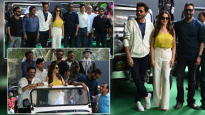 'Total Dhamaal': Madhuri, Ajay, and others make a 'dhamakedaar' entry at the trailer launch