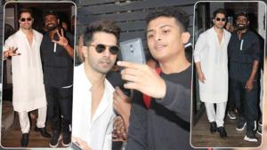 In Pics: Varun Dhawan spotted with Remo D'Souza with his new look for 'ABCD 3'