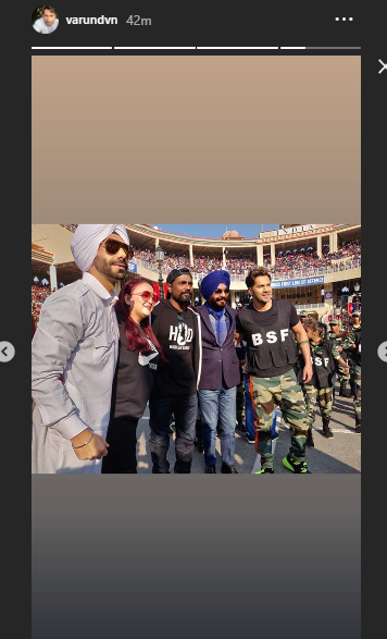 Varun Dhawan at Wagah border