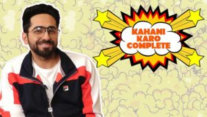 'AndhaDhun' actor Ayushmann Khurrana engages in a game of 'Kahani Karo Complete'