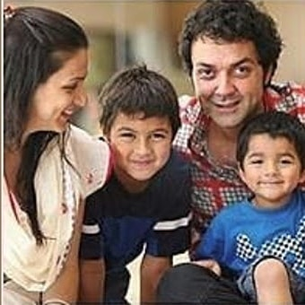 Bobby Deol and family