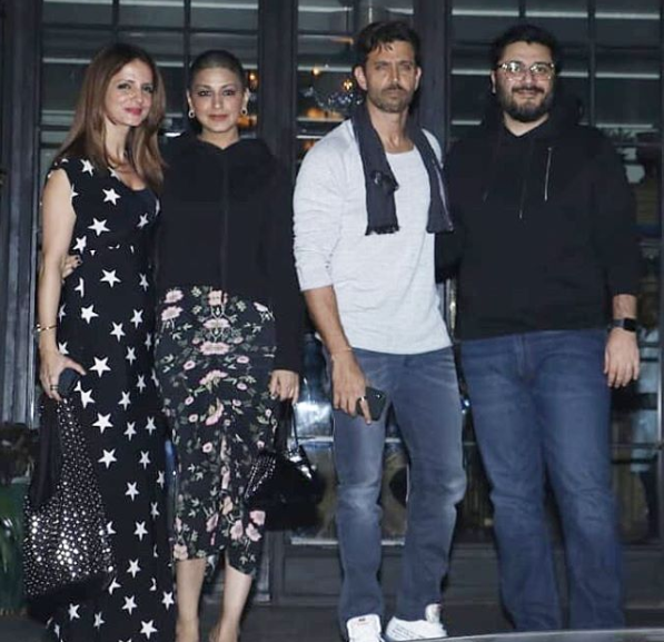Hrithik Roshan, Sussanne Khan , Sonali Bendre and Goldie Behl