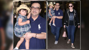 Airport Diaries: Adnan Sami spotted with his wife Roya Faryabi and their cute daughter