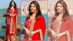 Pics: Aishwarya Rai looks like a new bride in a scarlet Manish Malhotra ensemble