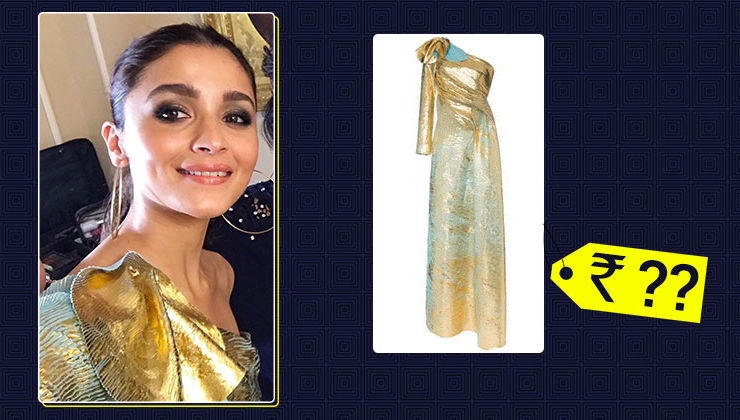 The cost of Alia Bhatt's blue and gold gown can sponsor your Bali trip