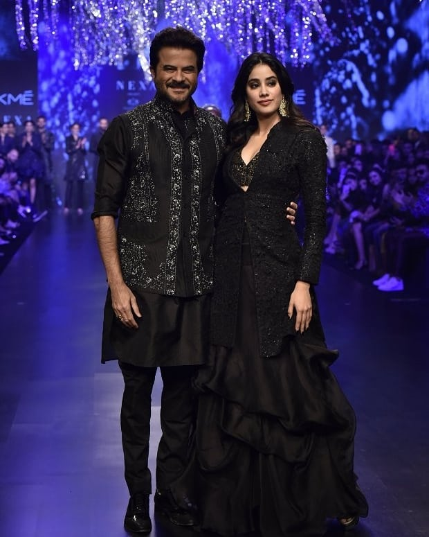 Anil Kapoor and Janhvi Kapoor