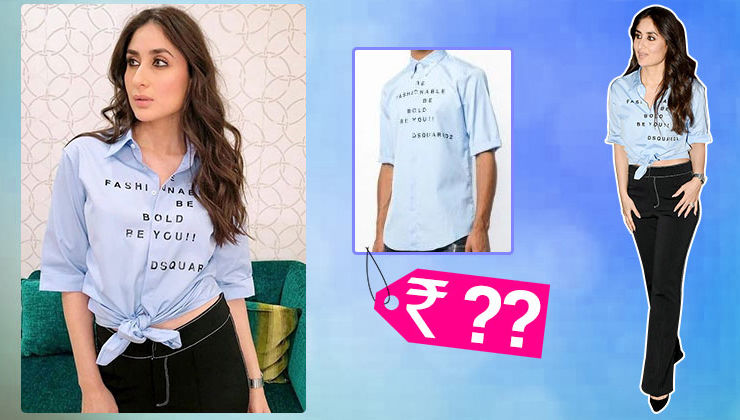 The cost of Kareena Kapoor Khan's blue slogan shirt will blow your mind