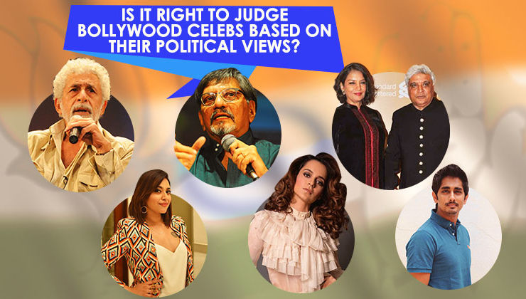 Is it right to judge Bollywood celebs based on their political views?