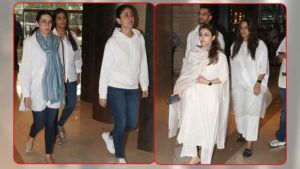 In Pics: From Kareena Kapoor Khan, Karisma Kapoor to Neha Dhupia, celebs at Vikram Phadnis' mother's prayer meet