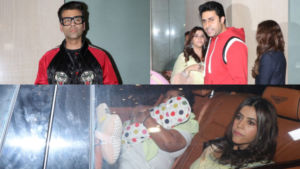 In Pics: Karan Johar, Abhishek Bachchan arrive for Ekta Kapoor's son's naming ceremony