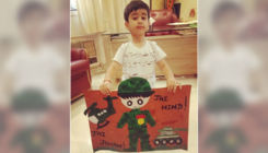 Tusshar Kapoor's son Laksshya creates a heartfelt painting saluting our soldiers