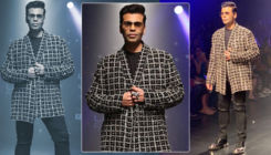 LFW 2019: Karan Johar dazzles on the ramp in black and gold ensemble