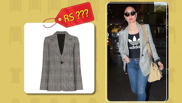 The actual cost of Kareena Kapoor Khan's grey checkered blazer will blow your mind