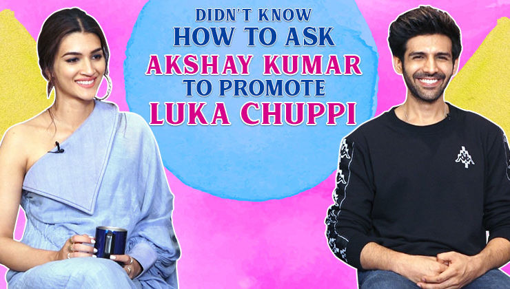 Kartik Aaryan and Kriti Sanon's AWKWARD conversation with Akshay Kumar for 'Luka Chuppi' promotions