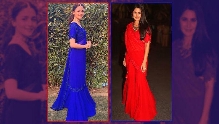 Katrina Kaif and Alia Bhatt bring the sharara saree in trend