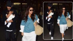 Airport Diaries: Neha Dhupia and Angad Bedi spotted with their little one Mehr