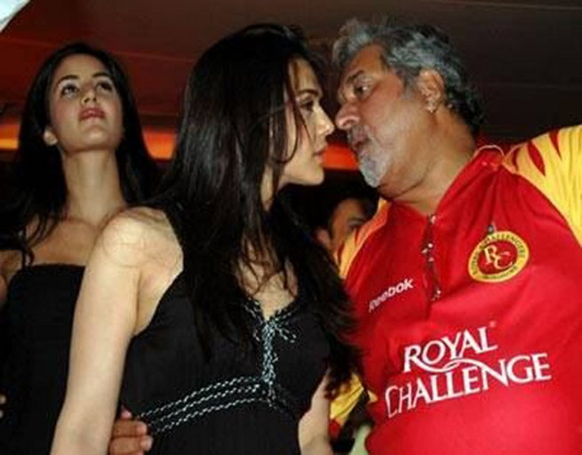 Preity Zinta and Vijay Mallya