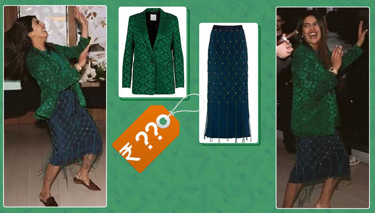 Cost of Priyanka Chopra's green jacket-blue skirt look will take your breath away