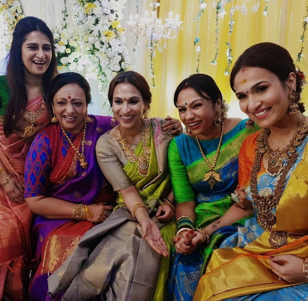 Soundarya with her bridesmaids