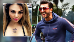 Watch: Rakhi Sawant gets Ranveer Singh's name tattooed on her chest