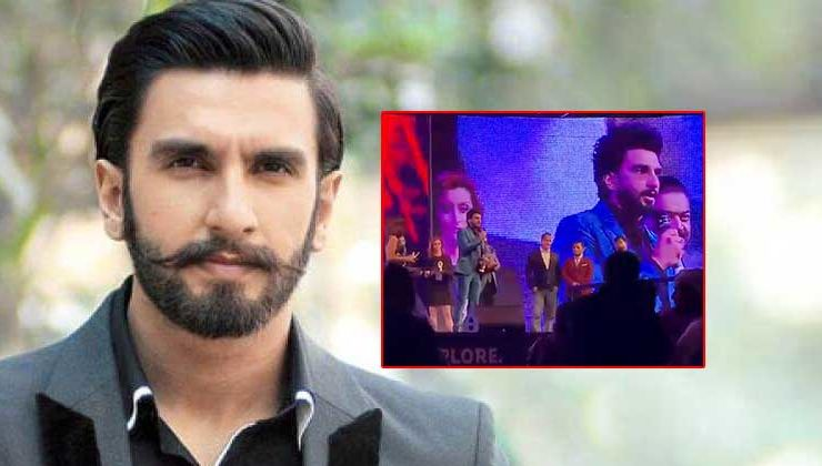 Watch: Ranveer Singh observes a minute's silence for martyred soldiers at an award show in Dubai